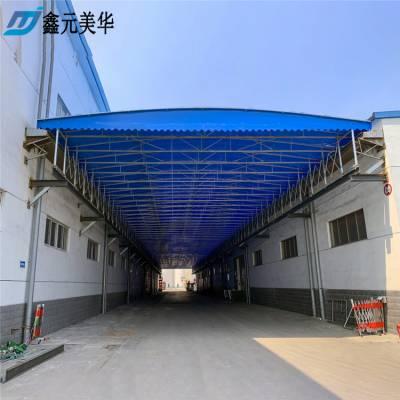 南京浦口区大型钢架活动蓬厂家 折叠雨棚布 施工推拉篷批发_超长耐用