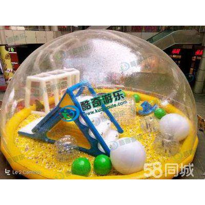 酷奇游乐充气水晶宫儿童乐园百万海洋球充气透明水晶屋