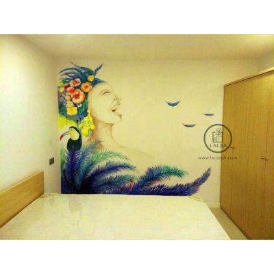 上海墙绘3D立体手绘彩绘涂鸦壁画:上海世联红璞公寓彩绘