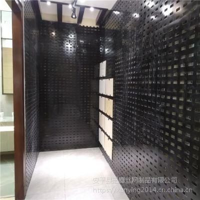 瓷砖展示架厂@沧州冲孔板货架厂家@周口800600挂砖定制