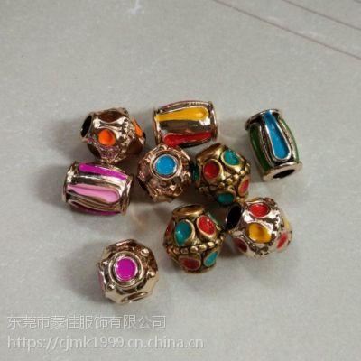 滴油珠子景泰蓝效果塑料珠子饰品配件