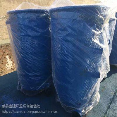 献县鑫建工厂直销环卫挂车垃圾桶、挂车大铁桶240L、360L铁垃圾桶