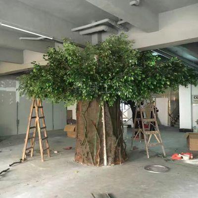 园林景观装饰 厂家供应仿真大树 pe材质 抗uv可定制人造景观工厂大树