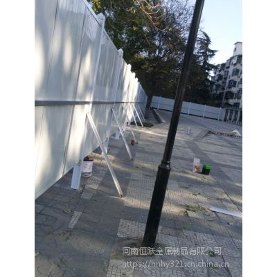 河南鹤壁厂家直销绿色pvc围挡 城市创建围挡 新型施工围挡 隔离围挡