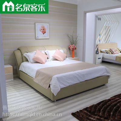 简约现代软床H1710-14大连软包家具工厂直销