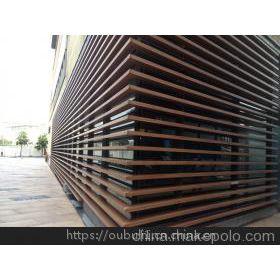 各种规格室内停车场条形铝天花防火木纹铝方通
