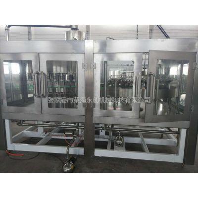 荣海永创XGF4-4-1 4.5-15升大瓶水直线式清洗灌装旋盖三合一生产线