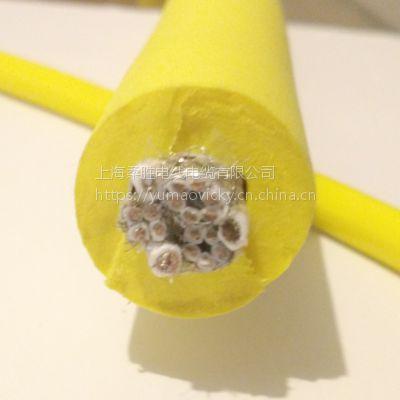 10芯屏蔽信号控制线加3芯电源复合一体零浮力电缆 水下机器人脐带缆