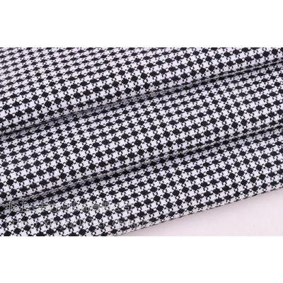 广州色织梭织外套格子提花春季面料F06289