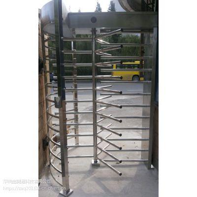 广场防水防尾随手动全高闸,监狱安检通道柱式120度单通道全高闸