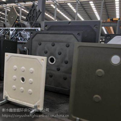 污水处理设备压滤机 河南1250型聚丙烯压滤机滤板 耐高温隔膜滤板