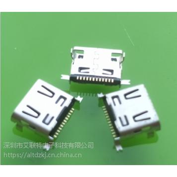 USB母座 迷你型LG专用母座 全贴式/全贴后插式 12PSMT