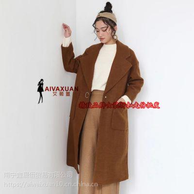 曼苏尔阿尔巴卡 17冬 双面羊绒大衣高端精品女装折扣批发一手货源