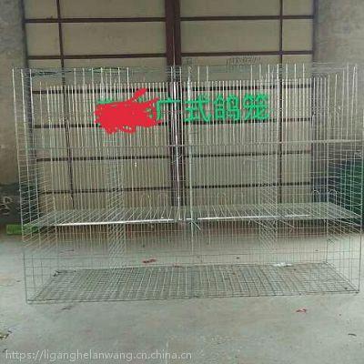 批发广式鸽子笼没有隔粪层高度1.35米x2米1.5米x2米12位鸽笼