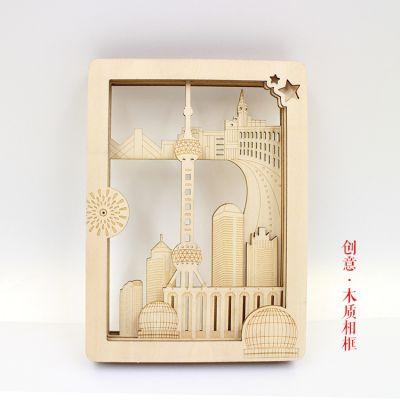 竹木工坊 木质DIY创意相框旅游景点特色纪念手信礼品木画框定制工厂