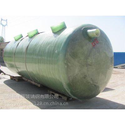 玻璃钢整体生物化粪池玻璃钢隔油池机制缠绕玻璃钢化粪池100立