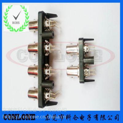 科仑大量供应BNC多孔系列射频插座 PCB板端BNC多孔系列连接器接头