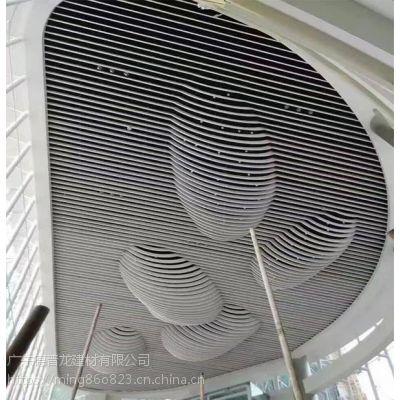 白色烤漆U槽铝方通实惠价格,弧形铝方通高大上装饰效果。