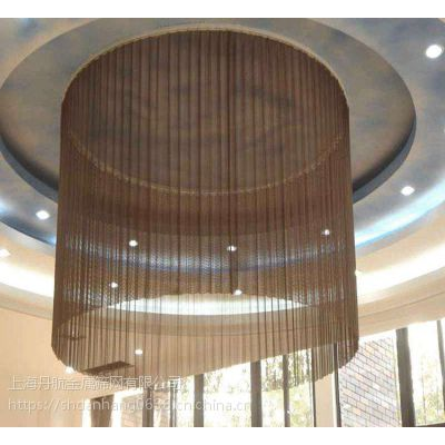 金属装饰网网帘环形帘吊顶幕墙装饰网帘隔断垂帘铜帘
