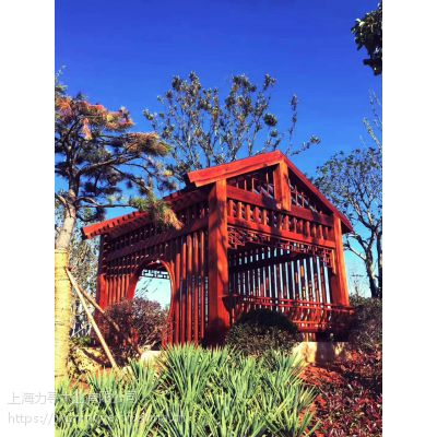 上海力寻木业经营各种菠萝格,实木花架,亭子,木屋,寺庙用料