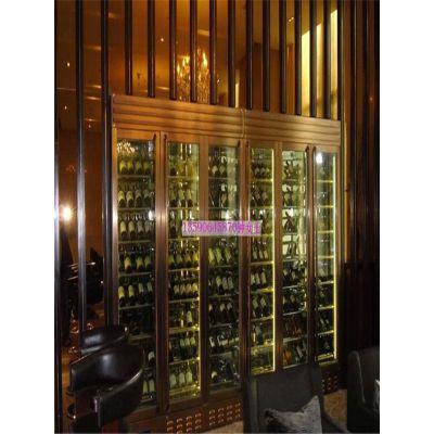 广州不锈钢酒柜厂家 酒店不锈钢恒温酒柜定制