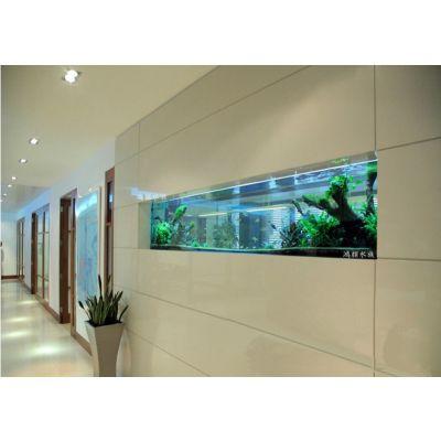 生态草缸定制 生态玻璃鱼缸定做 酒店淡水水族箱 大型水族箱定做索浦