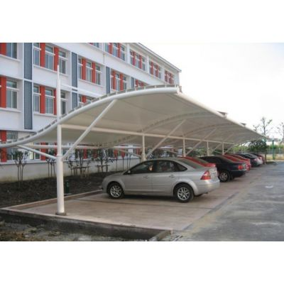 金华膜结构车棚厂家订制 金华膜结构车棚艺术性、经济性、阻燃性