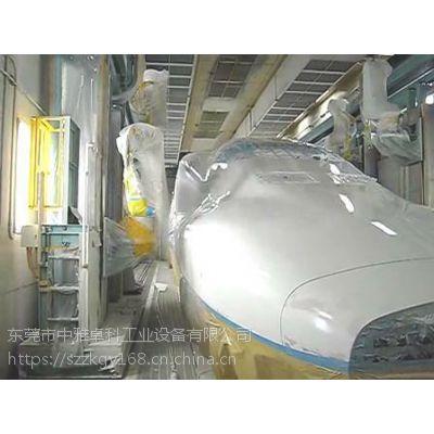 高铁车身涂装线 交通轨道车箱自动喷涂设备方案解决商