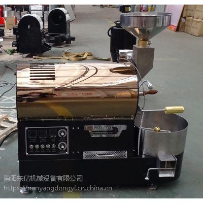 【1公斤滚筒式咖啡烘焙机】1公斤半直风半热火烘豆机有哪些//南阳东亿