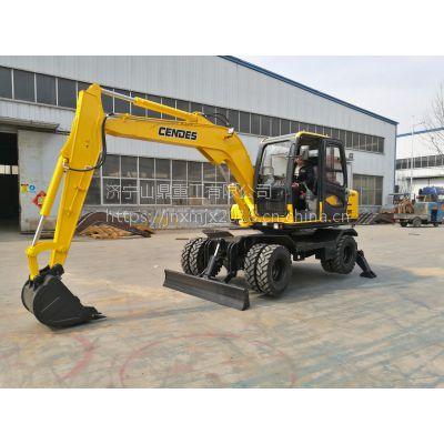 源头厂家直销四驱轮式挖掘机 轮胎挖掘机 市政绿化专用挖机
