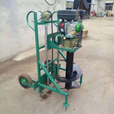 鄂州市拖拉机带光伏发电挖窝机 启航牌水泥电线杆钻坑机 汽油四冲程果园施肥打洞机厂家