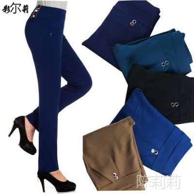 中老年女装打底裤秋季女士高腰弹力大码打底裤纯色中老年裤子女