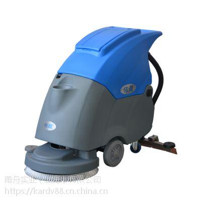 医院过道用手推式洗地机,依晨电瓶式洗地机YZ-50