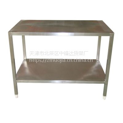 不锈钢工作台桌子操作台厨房家用双层专用架案板台面打包台打荷台