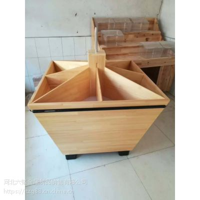 河北六韬展柜专业生产米柜 杂粮柜 散货柜超市米斗龙骨打包运输方便