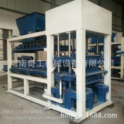 河南奇工机械厂供应大型8-15全自动砌块机 免烧水泥透水砖机 步道渗水面包砖机 一机多用 免费安装