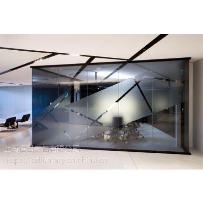 上海办公室玻璃隔断膜_办公室贴膜