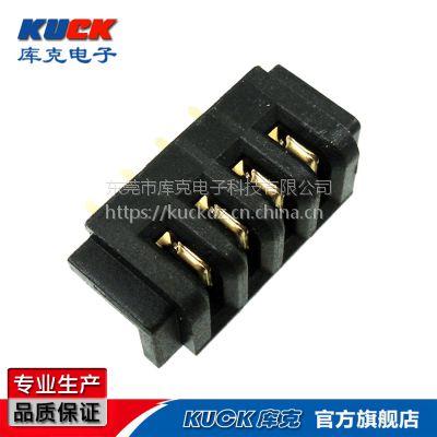 笔记本电池座连接器B01F母座A款无柱 间距2.5PH加长针