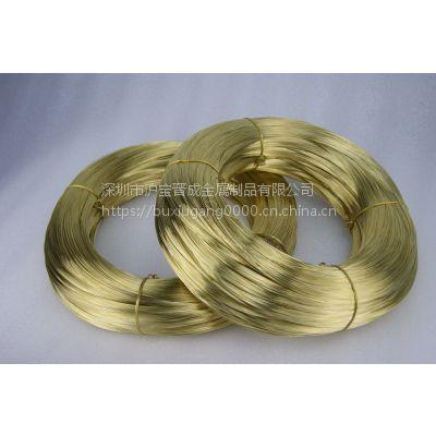 厂家直销H62黄铜线2.03MM克拉管专用H65黄铜线