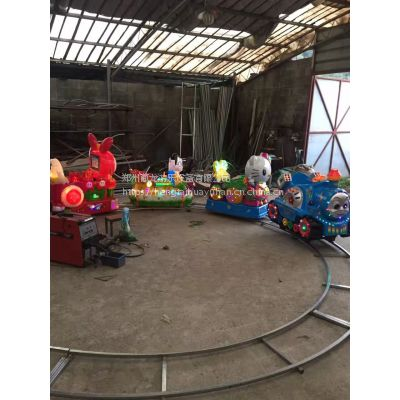 儿童游乐电瓶款式小火车报价 有音乐灯光的电动火车视频 六座电瓶户外小火车