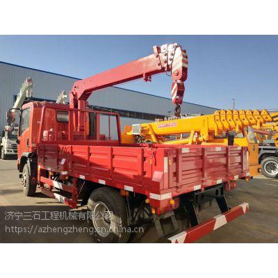 蓝牌随车吊可以吊重多少吨?货箱是几米?4吨大运随车吊图片