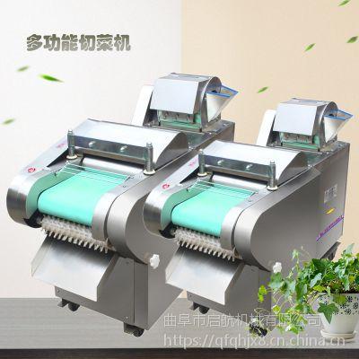 广东竹笋切丝切片机 启航餐厅用芹菜切段机 不锈钢型荷叶切条机哪里有卖