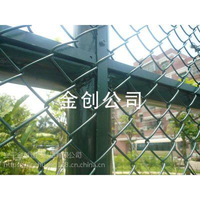 现货定制镀锌丝浸塑球场围网 体育场围网 勾花网护栏网