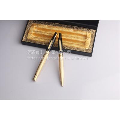 土豪金 金属圆珠笔 广告礼品笔 酒店用笔 可加印LOGO 两支装 礼品对笔套装定做