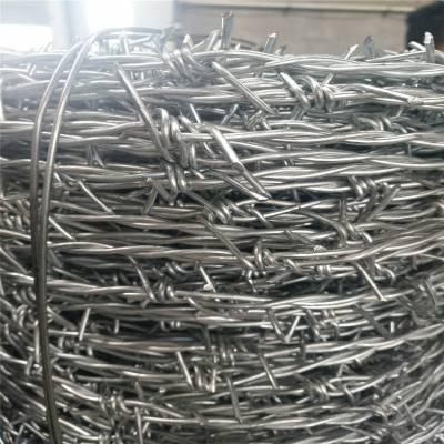 刺铁丝隔离栅 镀锌刺绳规格 铁蒺藜铁丝网围栏刺线