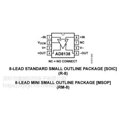 AD8138ARMZ-REEL7【ADI专营】其他IC 低失真差分ADC驱动器