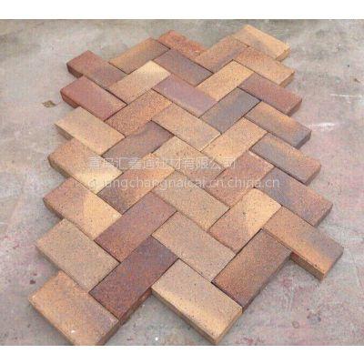 供应汇鑫通窑变砖200*100*50褐色烧结砖陶土砖