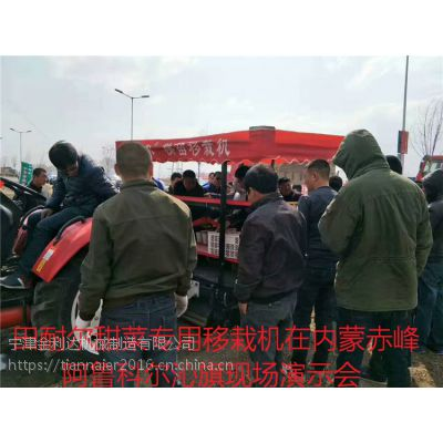 山东田耐尔甜菜专用移栽机在内蒙古赤峰阿鲁科尔沁旗现场演示