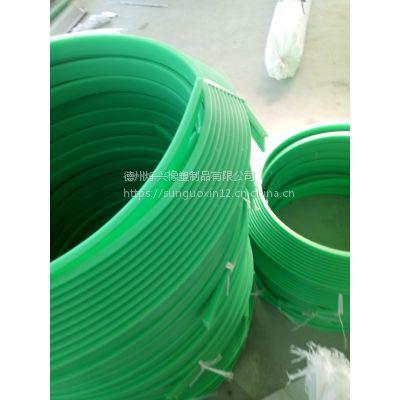 烁兴橡塑生产高分子聚乙烯绿色08BT型链条导轨 耐磨尼龙导轨弯座