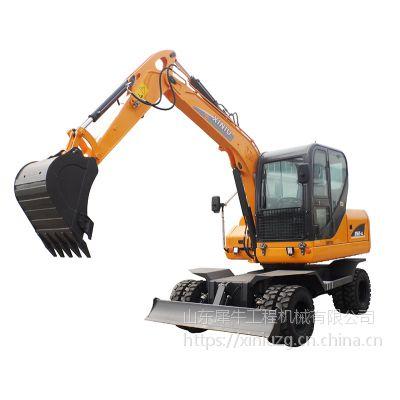 犀牛重工XN65-4小型轮式挖掘机 操作灵活 动力强劲 作业率高